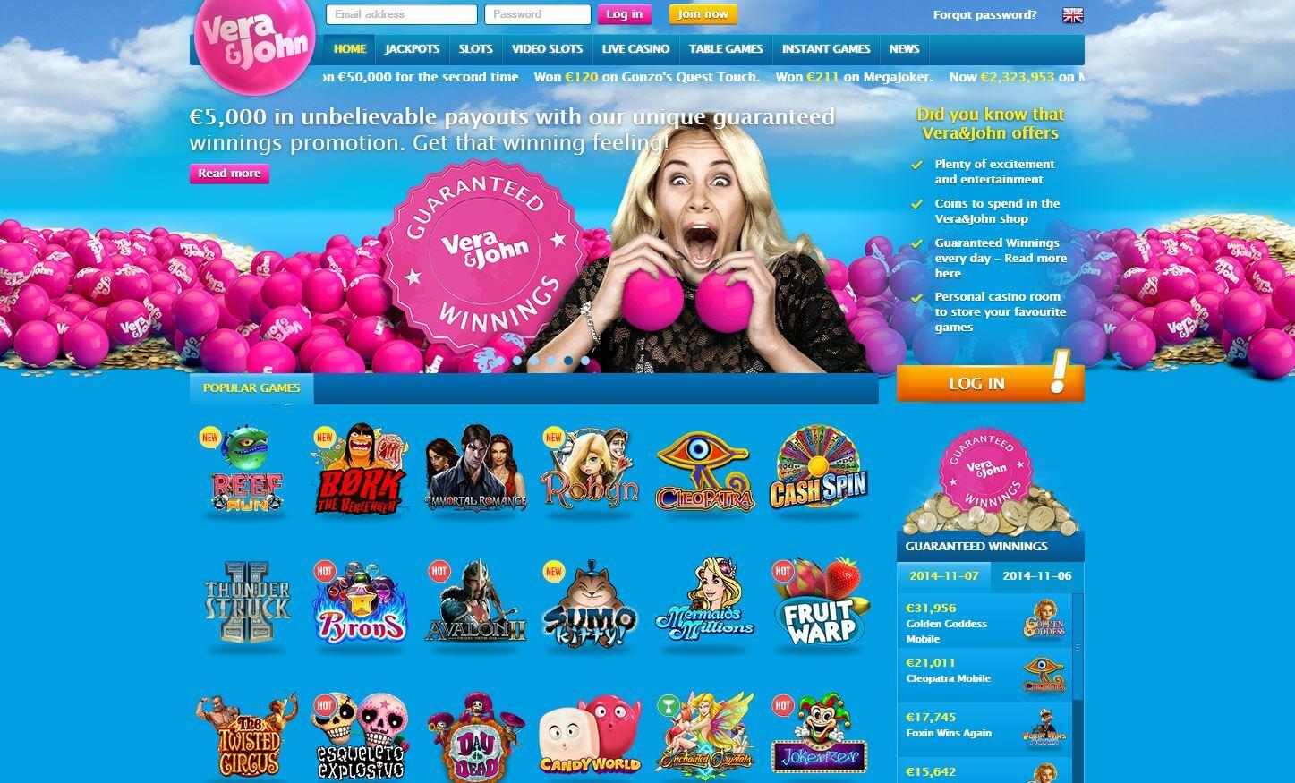 Vera and John Online Casino